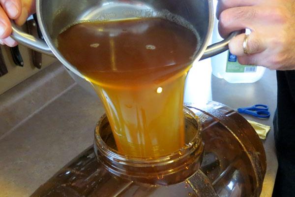 Making Beer in Barrel