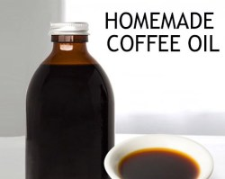 Homemade coffee oil is good for skin and hair