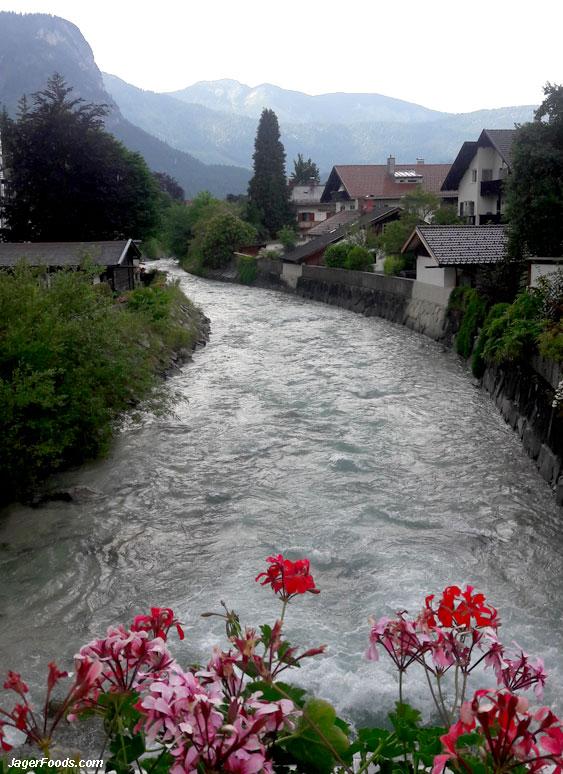 Beautiful Garmisch and the river Partnach