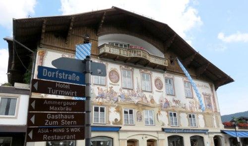 Mainstreet through Oberammergau