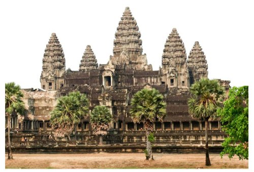 Sanctuary towers of Angkor Wat in Cambodia