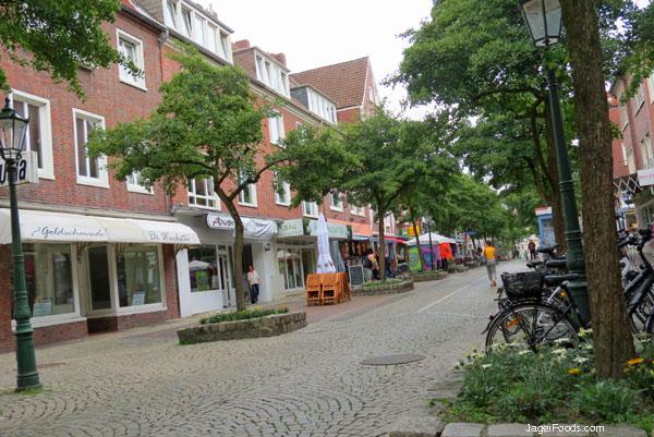 Shops in downtown Emden, Germany