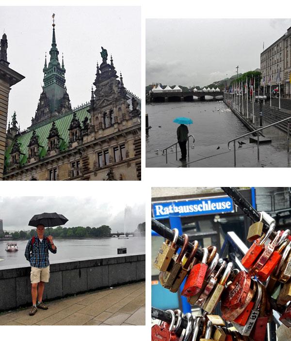 Enjoying Hamburg Germany In The Rain