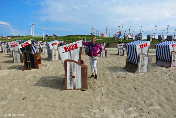 Enjoying a summer day at Norderney's Beach