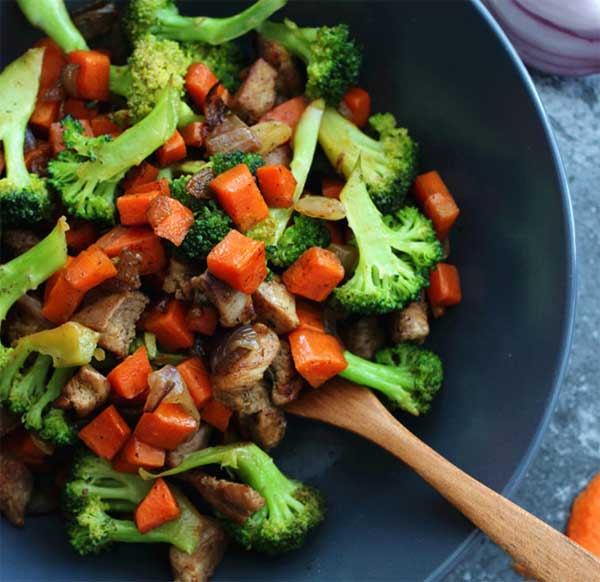 Healthy chicken and vegetable recipe