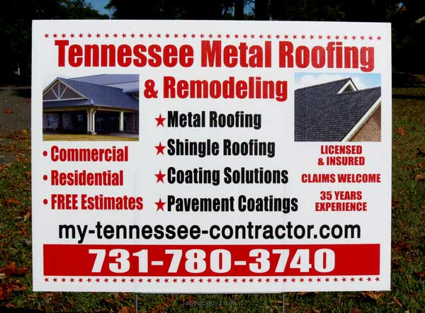 Sign for the Tennessee Metal Roofing Company