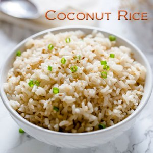 Easy coconut rice recipe, this is so yummy!