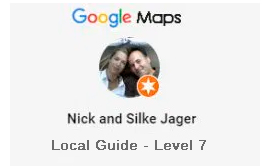 Nick and Silke Google on Google Maps