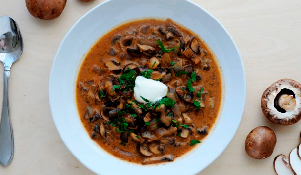 Low-Carb Mushroom Soup  by Lizzy