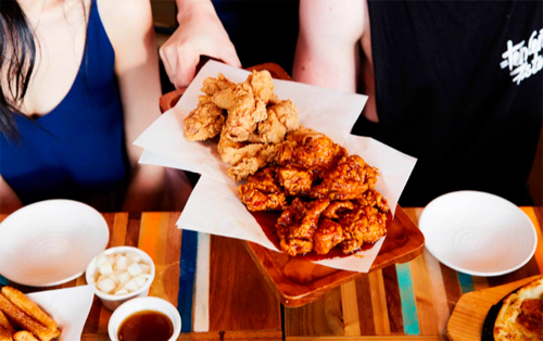 Popular Korean fried chicken