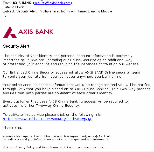 Axis Personal Banking