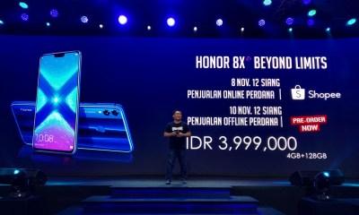 Honor 8X Hadir di Indonesia, Ini Spesifikasi dan Harga Resminya