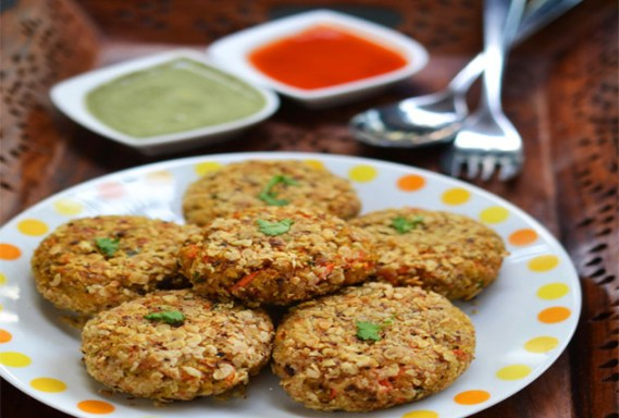 Image result for Oats Moong Dal Tikki