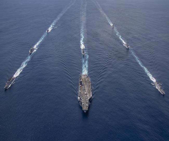 Amid tensions with China, India, US conduct joint Naval exercise ...