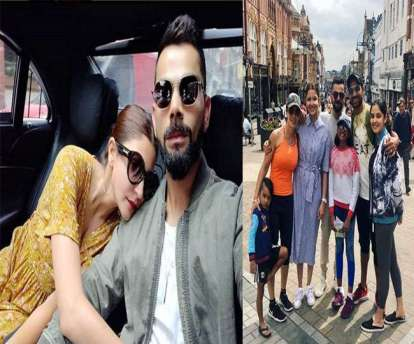 Image result for कोहली and dhawan with family in england