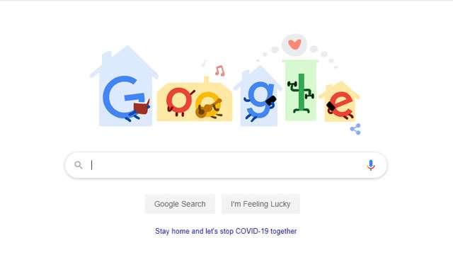 Google ने एक बार फिर बनाया यह खास Doodle, लोगों को घर पर रहने की दी सलाह