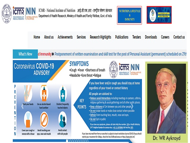ICMR-National Institute of Nutrition (NIN) Recruitment 2020