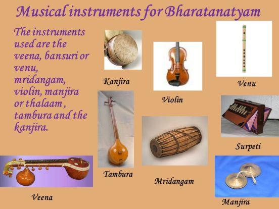 Instruments for Bharatnatyam
