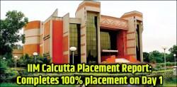 IIM Calcutta 2019 Placement Report