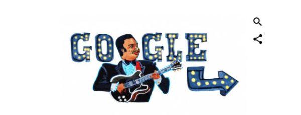 BB King: Google honours