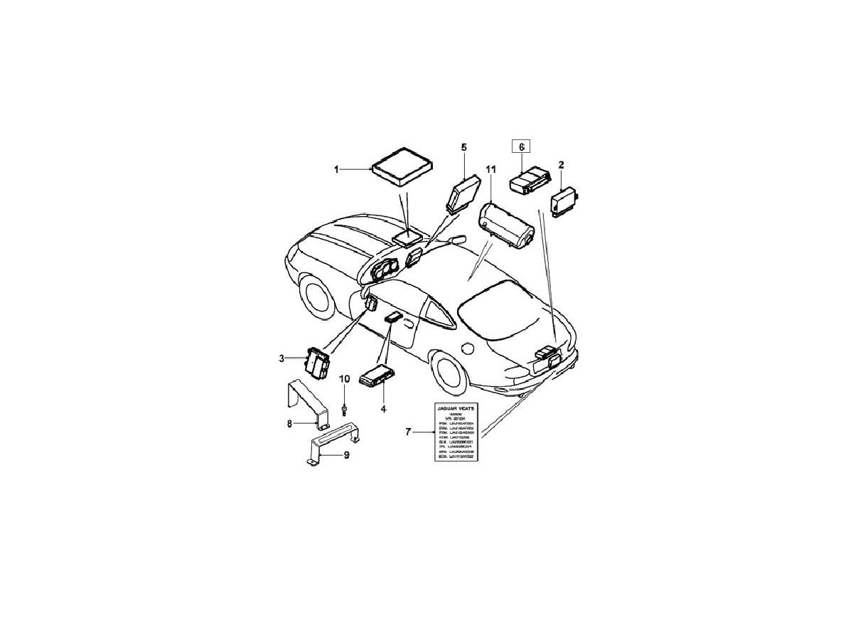 Module De Securite Verrouillage Ljb Bc Jaguar Xk8 Cabriolet