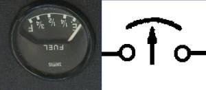 EType Fuel, Temp, Oil, Ammeter Gauge Wiring Diagram