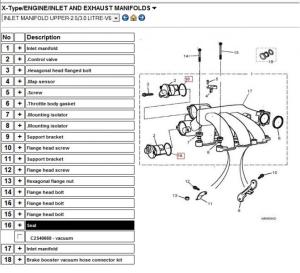 Need replacement boltfastener for air intake manifold