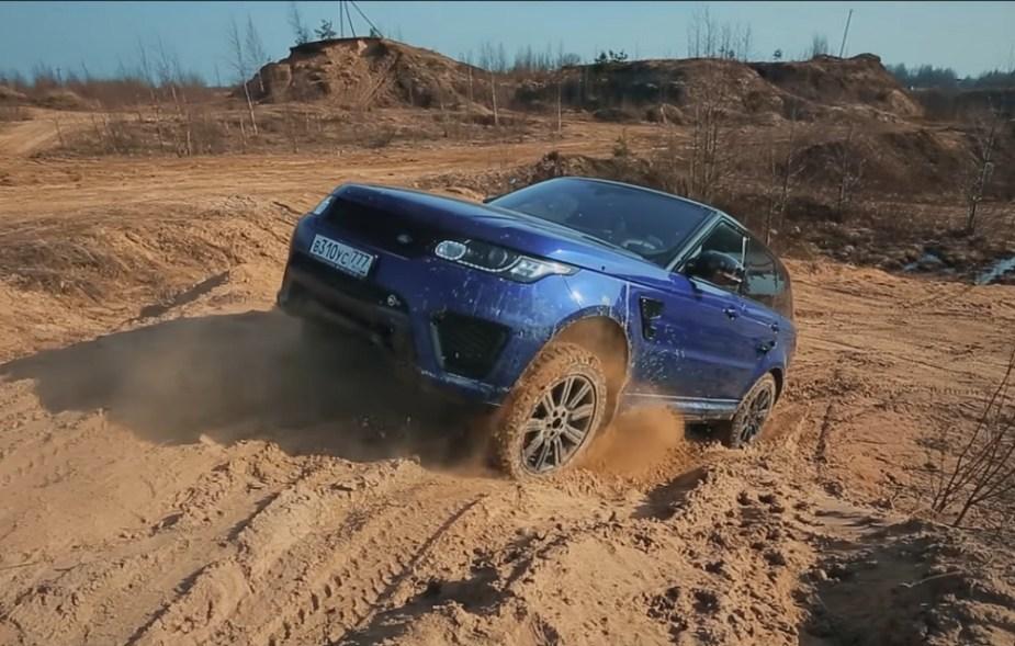 Jaguarforums.com Range Rover Sport SVR Russian Russia offroad mud dirt trail