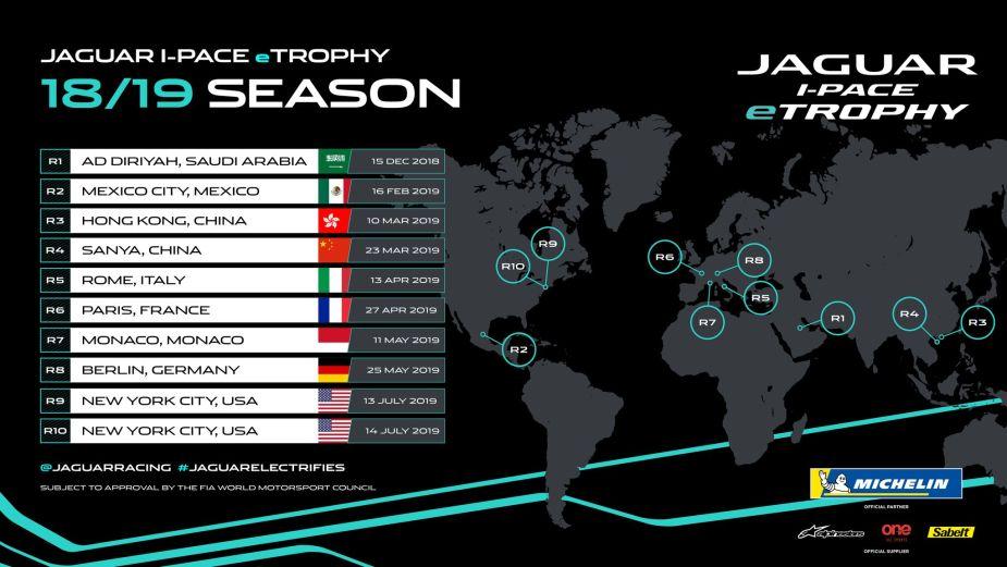 Jaguar I-PACE eTrophy Race Event Calendar Announced JaguarForums.com