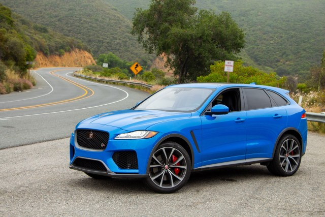 Jaguar F-PACE SVR Drive Review Jake Stumph Ultra Blue