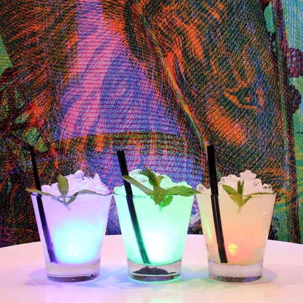 "Last week of the Carnovsky show = ""LIGHT-UP"" Cocktails."