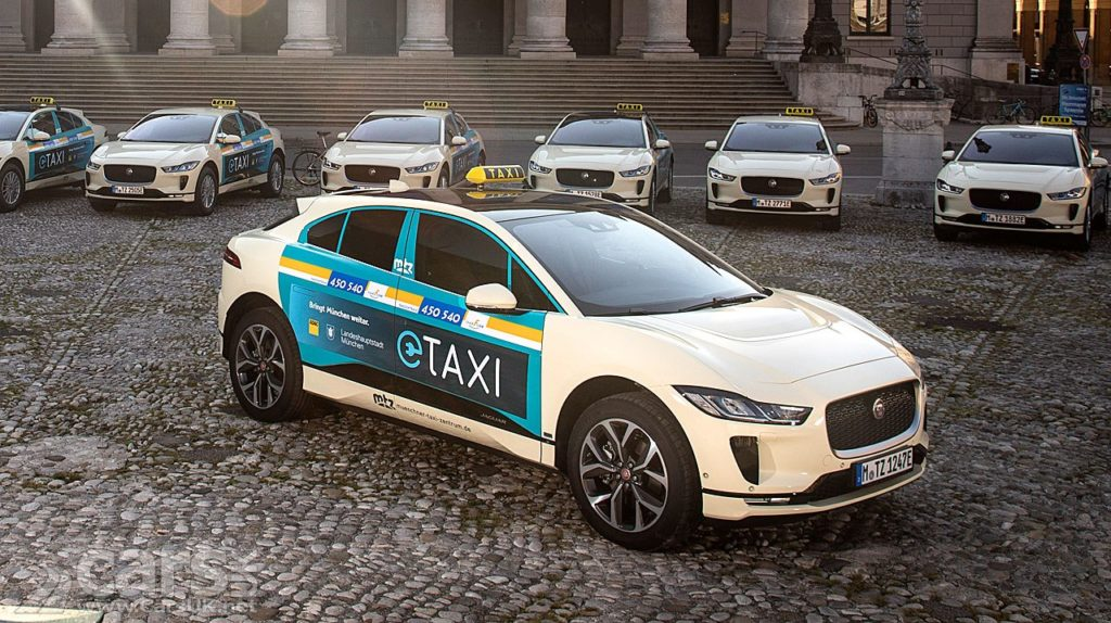 Jaguar I-PACE takes the fight to Mercedes taxis in Munich