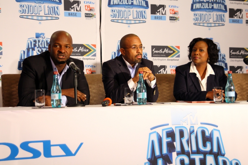 Alex Okosi, Sen VP & MD, Viacom, Mr Desmond Golding, HOD, Department of Tourism and Economic Dev, KZN & Ms Phindile Ngcobo, Chief Operations Officer, Tourism KZN (1)