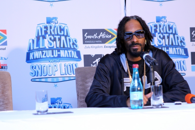 Snoop Lion at the MTV Africa All Stars press conference (1)