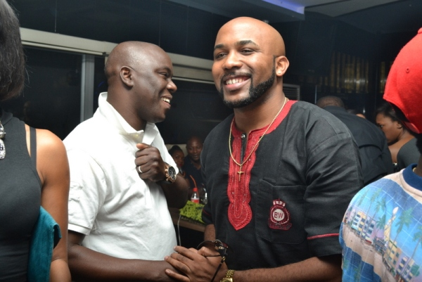Ayo ANimashaun and Banky W PHOTOS : Banky W, Julius Agwu, Toolz, Ice Prince, Wizkid, Others Gather To Celebrate Alex Okosi's Birthday In Lagos