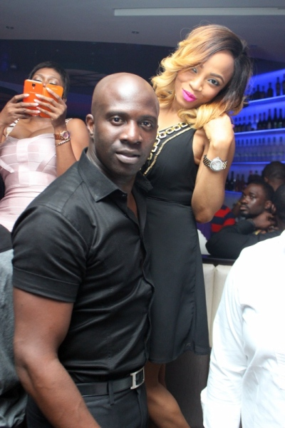 Toke Makinwa and fiance Maje Ayida PHOTOS : Banky W, Julius Agwu, Toolz, Ice Prince, Wizkid, Others Gather To Celebrate Alex Okosi's Birthday In Lagos