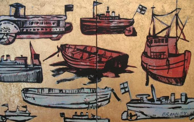 Db61 Boats Ddiptych 2 Panels 35X45Cm From Blog