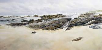 Larry-Mitchell-South-of-the-Rivermouth-Shoreline-240-cm-x-120cm