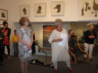 Kay Gibson on the left with Dr Felicity Haynes on the right.