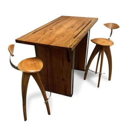 Dry-Reef-Marri-Timber-Bar-Table-1600Lx780Wx1050h-with-Crab-Bar-Stools