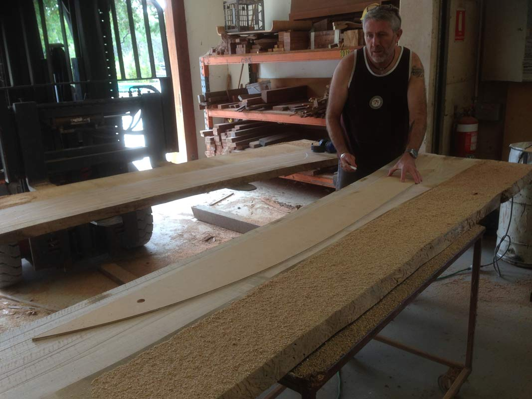 "Designer 6'11"" Fish Hall Table - In The Making"
