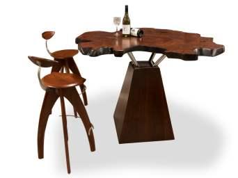Jarrah Burl Wine Bar Table