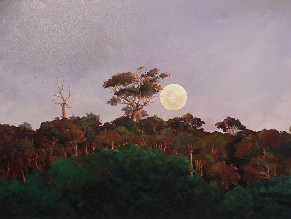 Peter Scott Moonrise Painting