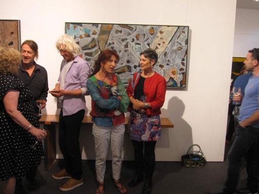 Bec Juniper Exhibition Opening Night Crowd 10