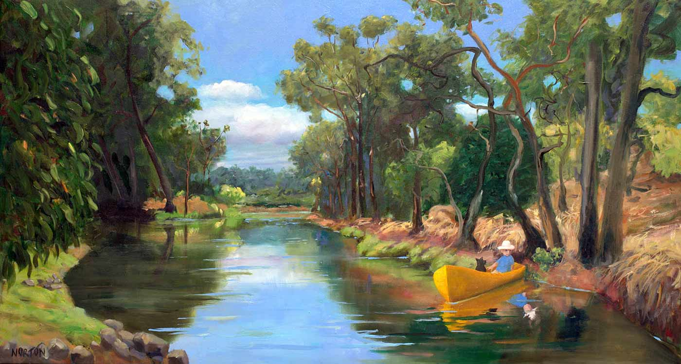 """Helen Norton Exhibition """"Living With The River"""" April 2017"""