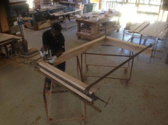 9 Filigree Bed In The Making - the structure starts