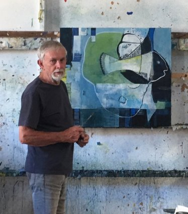 Geoffrey-Wake-Artist-with-painting-2