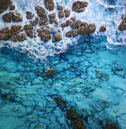 leigh hewson bower above the ocean painting