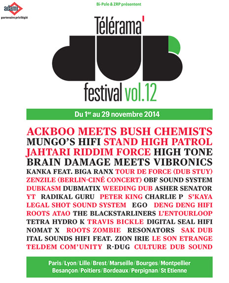 [33] - TELERAMA DUB FESTIVAL#12 - HIGH TONE + ACKBOO MEETS BUSH CHEMISTS + ROOTS ZOMBIE