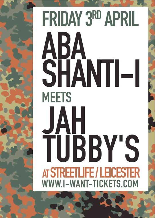 [UK] - ABA SHANTI-I meets JAH TUBBY'S